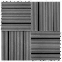 vidaXL terrassiplaadid 22 tk, 30 x 30 cm, 2 m², WPC, hall