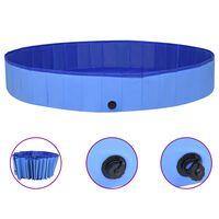 vidaXL kokkupandav koertebassein, sinine, 300 x 40 cm, PVC