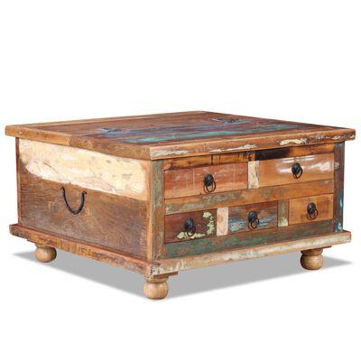 vidaXL kohvilaud taastatud puidust 70 x 70 x 38 cm