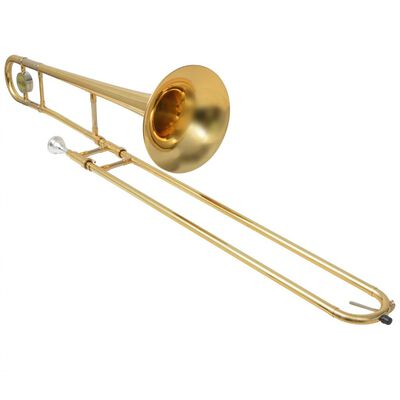 vidaXL tromboon kollane messing, kuldlakiga Bb