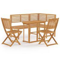 vidaXL 4 Piece Bistro Set Solid Acacia Wood (312422+44039+313321)