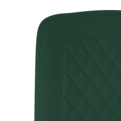 vidaXL söögitoolid 4 tk, roheline, samet