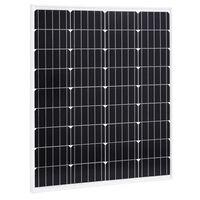 vidaXL päikesepaneel 80 W monokristalliline alumiinium ja turvaklaas