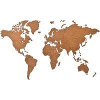"""MiMi Innovations puidust seina maailmakaart, """"Luxury"""" pruun, 90x54 cm"""