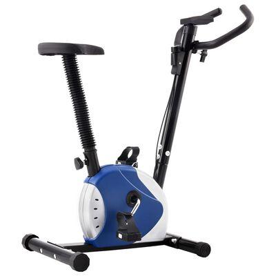 vidaXL veloergomeeter, rihmaga vastupanu, sinine, Sinine