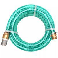 vidaXL imivoolik messingust ühendustega, 3 m, 25 mm, roheline