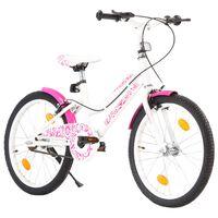 vidaXL laste jalgratas 20'', roosa ja valge