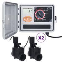 vidaXL kastmise kontrollseade 4 solenoidventiiliga
