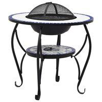 vidaXL tuleasemega laud, sinine ja valge, 68 cm, keraamiline