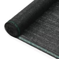 vidaXL tenniseväljaku võrk, HDPE, 1 x 100 m, must