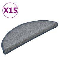 vidaXL trepivaibad 15 tk, helehall ja sinine, 56 x 17 x 3 cm