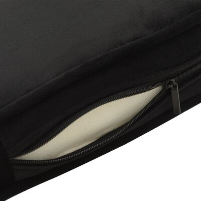 vidaXL koertediivan, must, 60 x 43 x 30 cm, plüüs ja kunstnahk, Must