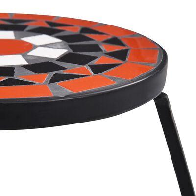 vidaXL mosaiikplaadiga lauad 3 tk, terrakota ja valge, keraamiline