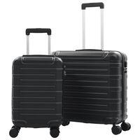vidaXL kõvakattega kohver 2 tk must ABS