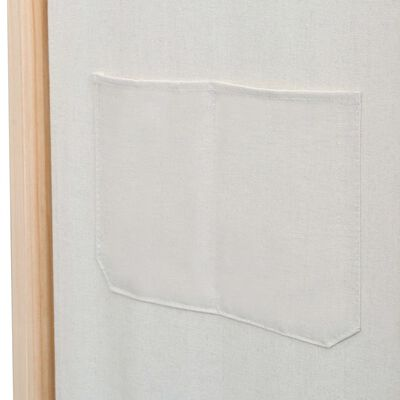 vidaXL 6 paneeliga sirm, kreemjas, 240 x 170 x 4 cm, kangas  , Cream