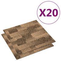 vidaXL põrandavaiba plaadid 20 tk, 5 m², pruun