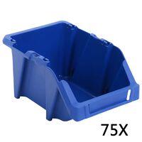 vidaXL virnastatavad hoiukastid 153 x 244 x 123 mm, sinine