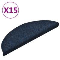 vidaXL isekleepuv trepivaip 15 tk, tumesinine, 56x17x3 cm, aastehnika