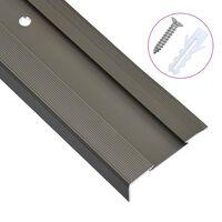 vidaXL L-kujulised trepikaitsmed 15 tk, alumiinium, 134 cm, pruun