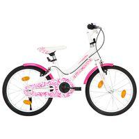 vidaXL laste jalgratas 18'', roosa ja valge