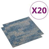 vidaXL põrandavaiba plaadid 20 tk, 5 m², helesinine