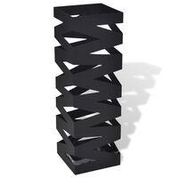 Must nelinurkne vihmavarju/jalutuskepihoidja, teras 48,5 cm