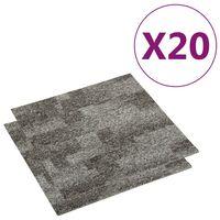 vidaXL põrandavaiba plaadid 20 tk, 5 m², hall