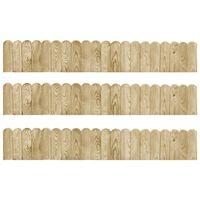 vidaXL Border Rolls 3 pcs 120 cm Impregnated Pinewood (3x49105)