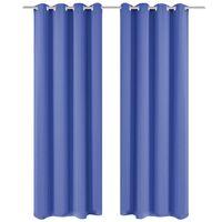 vidaXL pimendavad kardinad 2 tk metallöösidega 135 x 245 cm, sinine