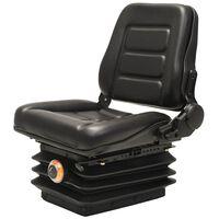 vidaXL kahveltõstuki, traktori iste, vedrustus, reguleeritav seljatugi