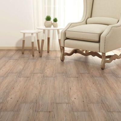 vidaXL iseliimuvad PVC-põrandaplaadid 5,02 m², 2 mm pruun tamm