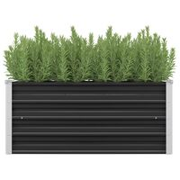 vidaXL aia taimelava antratsiithall 100 x 40 x 45 cm tsingitud teras