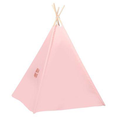 vidaXL laste tipitelk kotiga, kangas, roosa, 120 x 120 x 150 cm