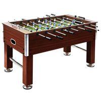 vidaXL lauajalgpalli laud, teras, 140 x 74,5 x 87,5 cm, 60 kg, pruun