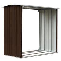 vidaXL puukuur tsingitud terasest, 172 x 91 x 154 cm, pruun