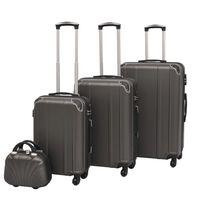 vidaXL neljaosaline kõvakattega kohvrite komplekt antratsiithall