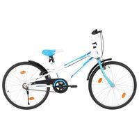 vidaXL laste jalgratas 24'', sinine ja valge