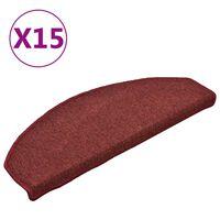vidaXL trepivaibad 15 tk, punane, 65 x 24 x 4 cm