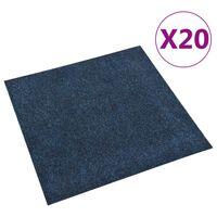 vidaXL põrandavaiba plaadid 20 tk, 5 m², tumesinine