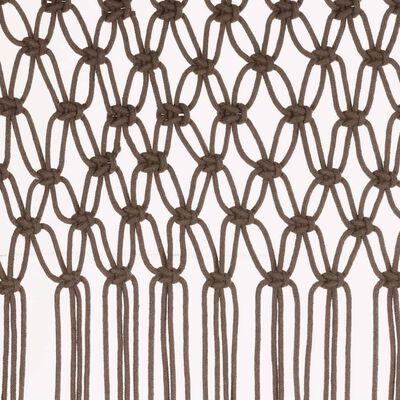 vidaXL makrameekardin, pruunikashall 140 x 240 cm puuvill, Tumehall