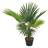 vidaXL kunsttaim palm lillepotiga 70 cm, roheline