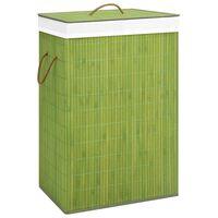 vidaXL bambusest pesukorv, roheline, 72 l