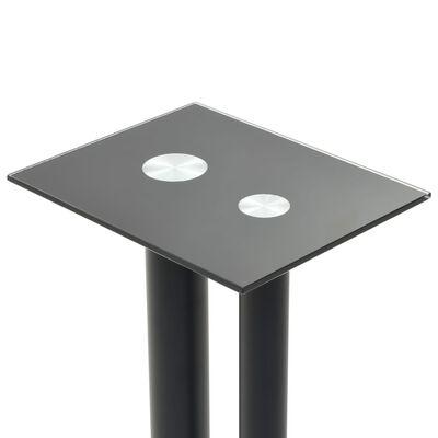 vidaXL kõlarialused 2 tk, karastatud klaasist, 2 sambaga disain, must