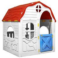 vidaXL laste kokkupandav mängumaja töötava ukse ja akendega