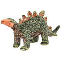 vidaXL seisev dinosaurus/stegosaurus, plüüs, roheline ja oranž XXL