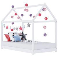 vidaXL lastevoodi raam, valge, männipuit, 80 x 160 cm