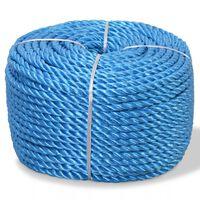 vidaXL punutud paadiköis polürpopüleenist 6 mm, 200 m, sinine