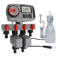 vidaXL automaatne veetaimer 4 jaama ja vihmaanduriga 3 V