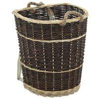 vidaXL küttepuude seljakott kanderihmadega 44,5x37x50 naturaalne paju