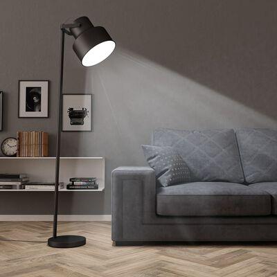 vidaXL põrandalamp, metall must E27, Must